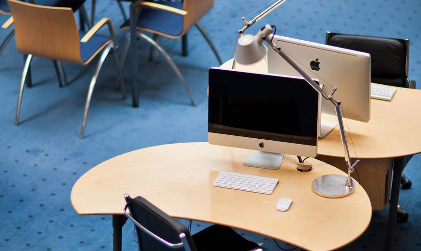 Student desks at Egrove Park